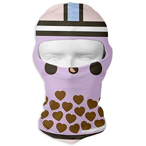 N/Een Full Face Masker Leuke Liefde Hart Bubble Thee Hood Zonnebrandcrème Masker Dubbele Laag Koud Voor Mannen En Vrouwen