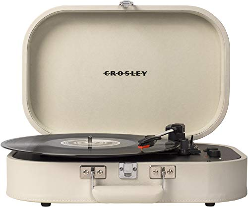 %37 OFF! Crosley CR8009A-DU Discovery Vintage Bluetooth 3-Speed Belt-Driven Suitcase Turntable, Dune