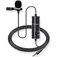 Omnidirektionales Mikrofon: Dies ist ein omnidirektionales Lavaliermikrofon mit Rauschunterdrückungsfunktion, mit dem Sie klare Videos, Interviews, Reden usw. aufnehmen können. Es erzeugt eine hervorragende Klangqualität, sodass Sie sich in lauten Um...