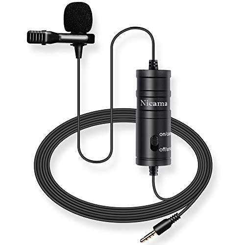 Lavalier Microphone with 2 Batteries,...