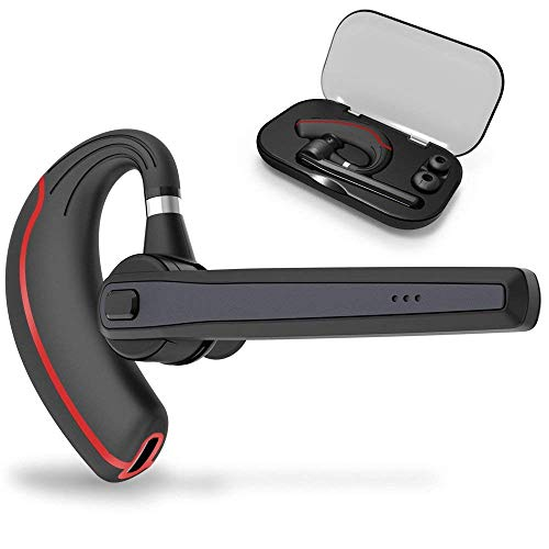 Bluetooth Headset, Wireless Earpiece for Cell Phones, in-Ear Piece Hands Free Earphones Headphone Car Speakerphones Kits w/Mic, Noise Cancelling for Driving, Compatible w/iPhone Samsung Cellphone