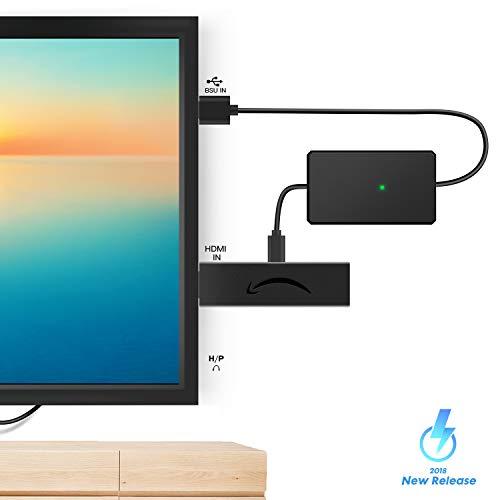 USB-Stromkabel für Fire Stick-Zubehör (kein Netzteil erforderlich), kompatibel mit Fire Stick, Fire Stick 4K, Fire Stick 4K Ultra HD, auch USB-Anschlüsse mit geringem Stromverbrauch (300 mA)