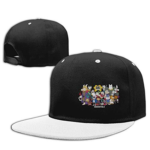 Jiso-Bag コントラスト ヒップホップ ベースボール キャップ アンダー ハート テール White 帽子 野球帽 平つば 硬つば 長つば スナップボタン メンズ