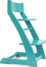 Fornel Heartwood Turquoise Adjustable Wooden High Chair Baby Highchair Solution for Babies and Toddlers Dining Highchair from 24 Months