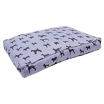 Rosewood Grand lit pour Chien de Grande Taille - Housse Amovible Lavable en Machine - Matelas en Toile de Luxe Super Doux pour Chien - Gris - 106 x 70 x 23 cm (Environ 42 x 28 x 9 cm)