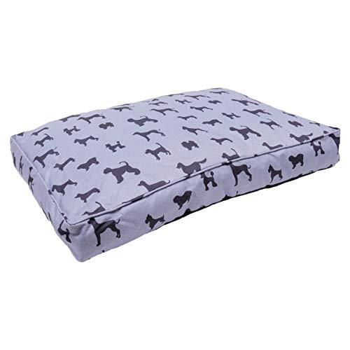 Rosewood Cama Mediana para Perros medianos, Lavable a máquina, colchón de Lona de Lujo súper Suave, Gris, 92 x 69 x 22 cm (Aproximadamente 91,4 x 68,6 x 22,8 cm)