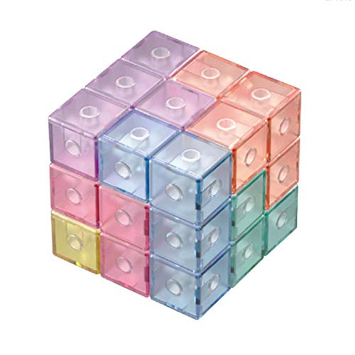 Magnetic Building Blocks,Speed Cube Set, Puzzle Cube,Cube Fidget Toy, Sensory Tool EDC Fidgeting Game for Kids and Adults, Cool Mini Gadget Best for Stress and Anxiety Relief and Kill Time.