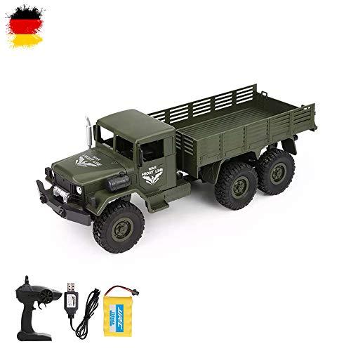 Himoto HSP RC Ferngesteuerter Off-Road 6WD Militär Army Truck mit Akku, Fernsteuerung und Ladekabel, 2.4GHz Fahrzeug Modell, Transporter, Truck, LKW, Crawler, Komplett-Set