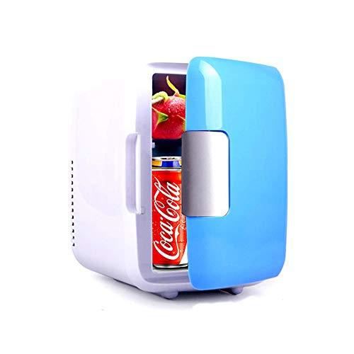 Mini frigorifero portatile da 4L, frigorifero elettrico, dispositivo di raffreddamento e scaldino, con maniglia per ripiano mobile estraibile Ventola di raffreddamento grande per viaggi in auto Estate