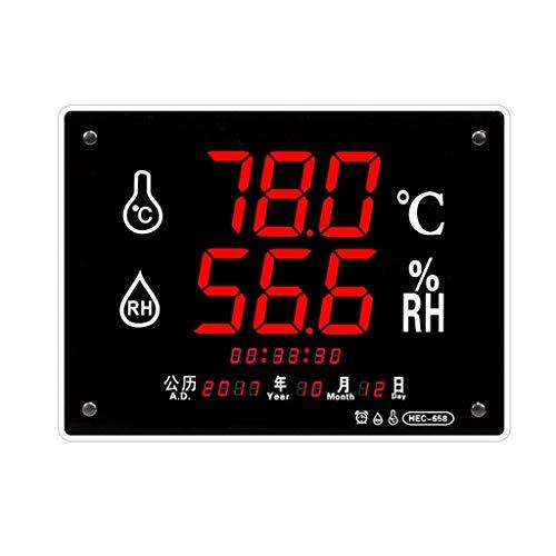 MRZ Ashcan Digital Indoor Baby Home Thermometer Hygrometer Horloge, Met standaard Wandmontage Zonder Batterij
