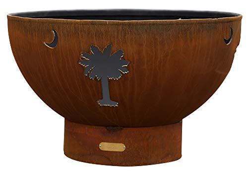 Why Choose Fire Pit Art Tropical Moon Liquid Propane Fire Pit Bowl Outdoor Patio Furniture Steel Fir...