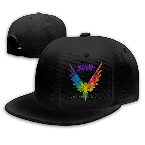 LiwnzhenSH Cotton Logan Paul Sun Conure Unisex Flat Brim Baseball Hat Parrot Wing (One Size, Black3)