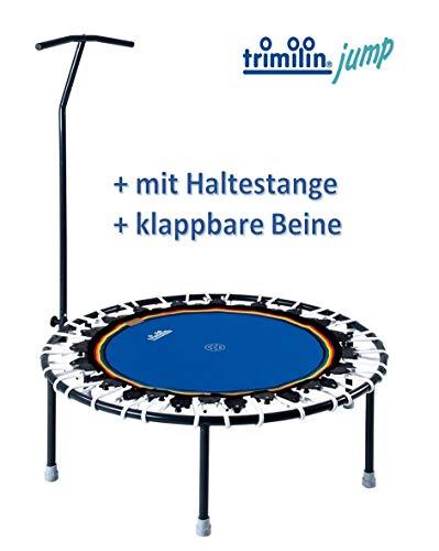 Trimilin Trampolin Jump 111 Plus incl. Haltestange (blau/weiß)