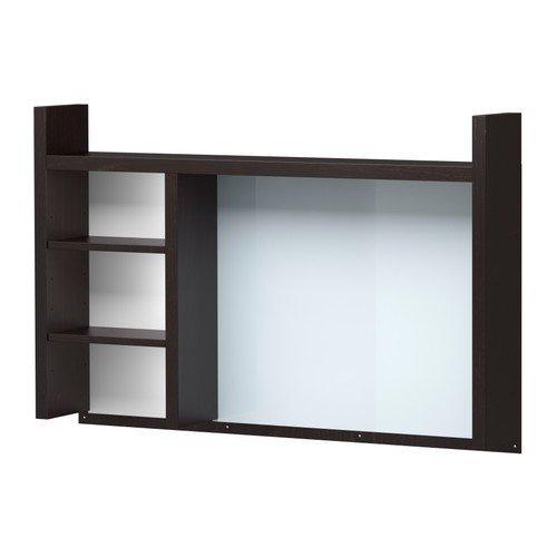 IKEA MICKE installationselement för skrivbord; i svartbrun; (105 x 65 cm)