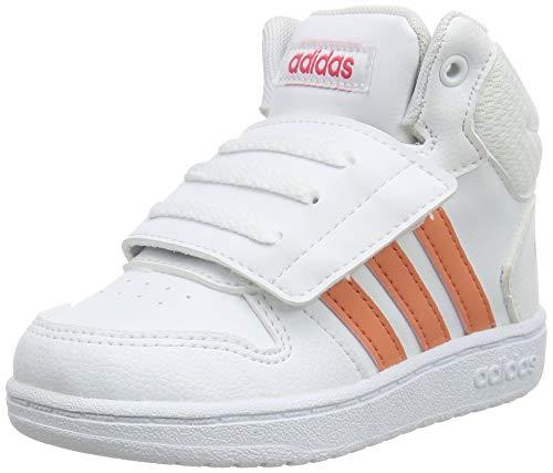 adidas Unisex Baby Hoops 2.0 Mid Sneaker, Weiß (Footwear White/Semi Coral/Real Pink 0), 26 EU