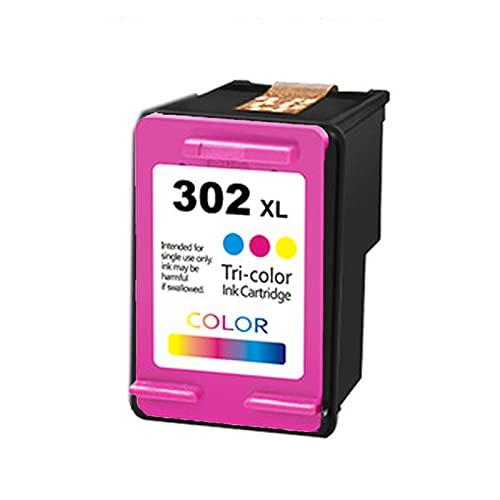 UKKU Cartucho para HP 302XL Cartucho de tóner Compatible con HP DeskJet 1110 1111 1112 2130 2132 2134 2136 3630 3632 3633 3634 3636 3637 3638 Impresoras con Chip Color