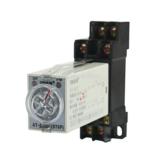 Sala-Deco - Panel Mounted AC 110V 5A 8Pin DPDT 10s Power on Time Delay Timer Relay Discount 50
