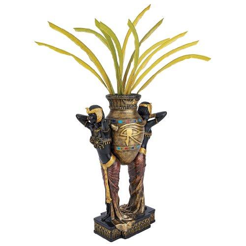 Design Toscano Ägyptische urnentragende Jungfrauen, Skulpturale Vase