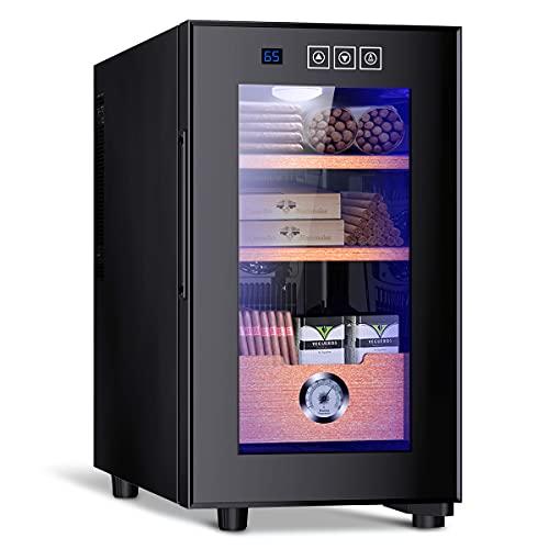 Electronic Cooler Humidor,150 capacity, with Spanish Cedar Wood Shelves