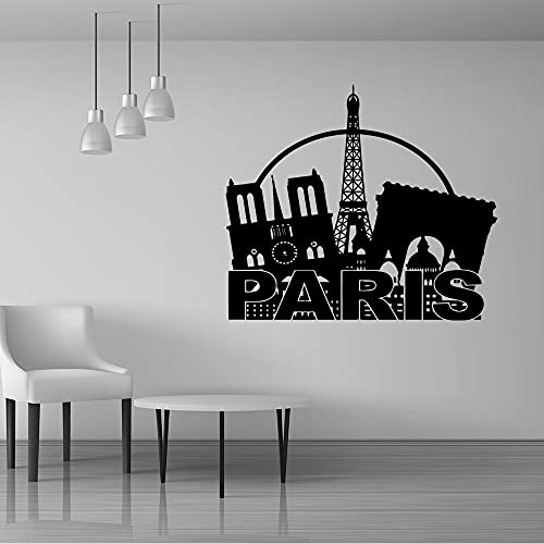 Zdklfm69 Adesivi da Parete Adesivi Murali Carta da Parati autoadesiva di Arte della Torre di Ferro per L'Arte della Parete della Decorazione delle stanze dei Bambini MURALE 57x65cm