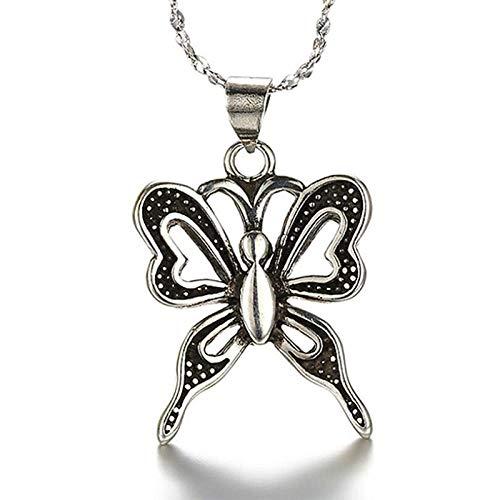 FJCY Collar con Colgante de Mariposa de Color Collar de joyería para Hombres y Mujeres