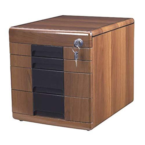 Z-LIANG Gabinetes de escritorio Los cajones de almacenamiento Fichero archivador de oficina 4-mueble archivador de documentos del cajón del gabinete caja con cerradura de alta capacidad puede almacena