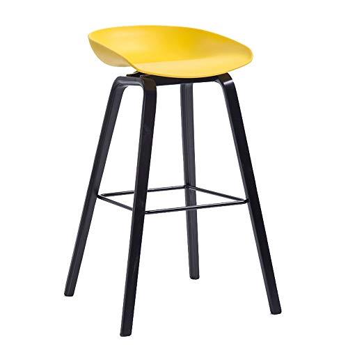 Barstools-BYTGK barkruk van hout, hocker van polypropyleen, hoge kruk met voetensteun en voetensteun, ontbijt voor thuis Kitchen Bar J1129