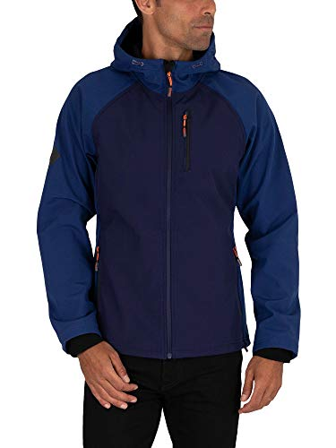 Superdry Herren Hooded Softshell Jacke, Blau (Atlantic Navy GKV), Small