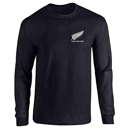 New Zealand Soccer Retro National Team Jersey Black L Full Long Sleeve Tee T-Shirt