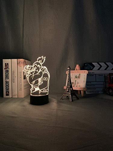 Tatapai Luz nocturna 3D Ilusión Led Lámparas Decoración Lámpara para Niños Ilusión Anime Luz Naruto Shikamaru y Temari Lámpara para Dormitorio Niños Regalo de Cumpleaños Led Luz Noche Anime Naruto