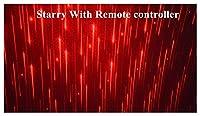 マルチモードの車の内部LEDプロジェクター、車の屋根のフルスターの投影レーザーランプ、自動屋根の星LEDのインテリアの家 セルフメディアライト用 (Emitting Color : Starry with control)