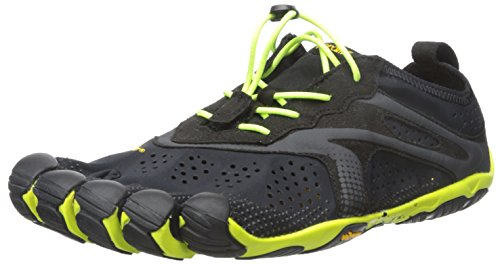 Vibram Men's V Running Shoe, Black/Yellow, 9-9.5