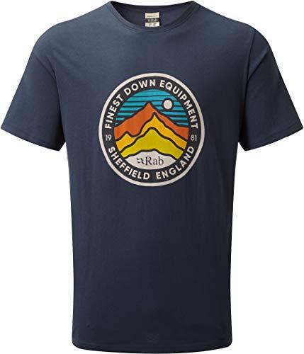 RAB Stance 3 Peaks - T-Shirt Manches Courtes Homme - Bleu Modèle L 2019 Tshirt Manches Courtes