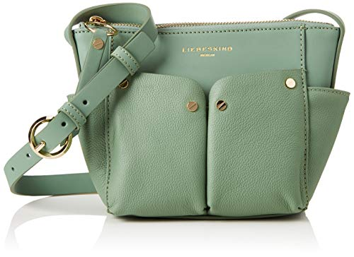 Liebeskind Berlin Damen Duo Crossbody Small Umhängetasche, Grün (Hedge Green), 7x25x16 cm