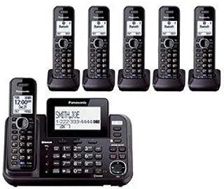 Panasonic KX-TG9542B + Four KX-TGA950B, 6-Handset Cordless System (2 Line) DECT 6.0 1.9Ghz