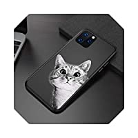 For iPhone 11 12 6 6s 7 8 Plus XXR XS 11 Pro Max 5 漫画猫宇宙飛行士動物 For iPhone Xカバー用のZhiia電話ケースソフトTPU-T2-For iPhone 12Pro Max