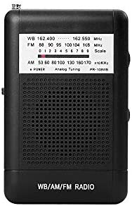 NOAA Weather Radio by Flyoukki Pocket Small AM FM WB Radio with Best Reception for Emergency product image