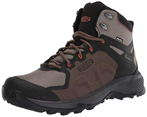KEEN Men's Explore MID WP Hiking Boot, Canteen/Brindle, 10.5