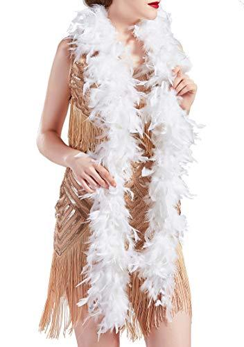 Coucoland Boa Soft Burlesque - Bufandas de baile de los años 20 para mujer