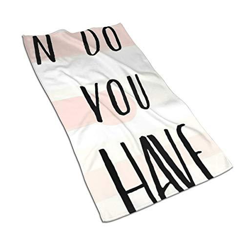 Generieke 27.5 * 15,7 inch Handdoek Motivatie Achter de Engels Letters Zachte Super Absorberende Fluffy Handdoek Katoen Gepersonaliseerd Vierkant Gezicht Zacht Hotel Bad