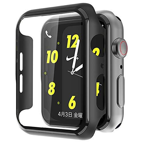 MAESTO Apple Watch Series 5 / Series 4 40mm ケース, Apple Watch 超薄型フィルム 3D全面保護 液晶全面保護カバー 日本旭硝子材 傷防止 耐衝撃PCフレーム 2020 新しい アップルウォッチシリーズ 5/4 40mm ケース(ブラック)