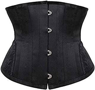 SYMG Women's Short Corset, Corset Gothic Court Corset, Black Sexy Waist Clip Waistband, Thin Waist And Hips, and Belly Shaping shapewear women (Size : L)