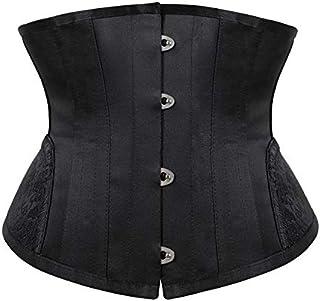 SYMG Women's Short Corset, Corset Gothic Court Corset, Black Sexy Waist Clip Waistband, Thin Waist And Hips, and Belly Shaping shapewear women (Size : XS)