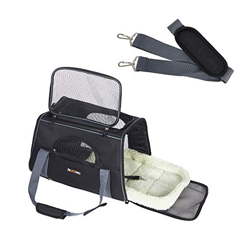 FEANDREA Hundetasche, Transporttasche für Haustiere, schwarz PDC44BK