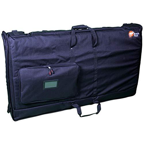 BuschiPack draagtas voor schermen/flatscreen/tv tot 55 inch tot 125 cm breedte, dikke bekleding, duurzaam, hoge draagkracht, robuust, beschermende tas/transporttas/bescherming voor grote schermen
