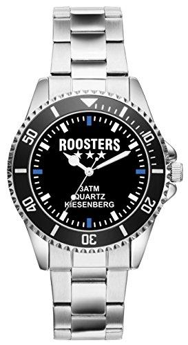 Roosters Geschenk Artikel Idee Fan Uhr 2457