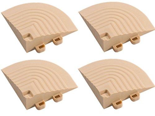BodenMax Set di 4 Angoli ad Incastro per Piastrelle Componibili BodenMax – Accessori per Piastrelle ad Incastro – 7,5x7,5x2,4cm