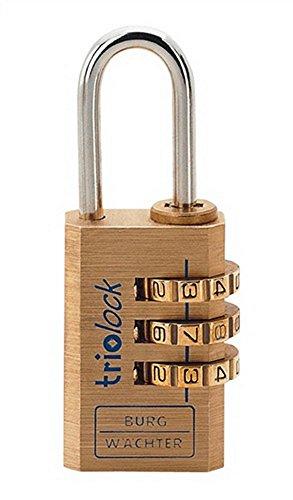 Burg Wächter Zahlen-Vorhangschloss Combi-Lock 80 B.30mm Bügelst. 5mm Ms.