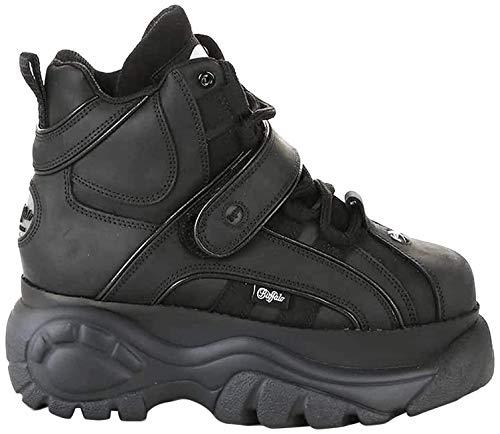 Buffalo London 1348-14 2.0, damskie buty typu sneakers, Czarny - 38.5 EU