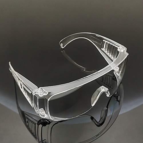 WAIDLY Gafas de Seguridad Unisex, Marco de Lente Transparente Diseño de Gran Angular Anti Polvo Anti UV para construcción, Laboratorio, Productos químicos